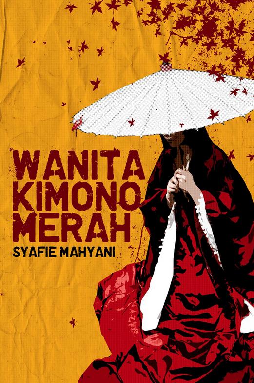 WANITA KIMONO MERAH